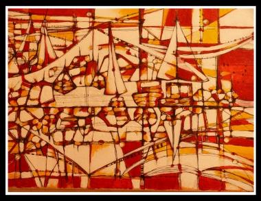 Acrylique sur toile, 20 x 30 cm. 2009